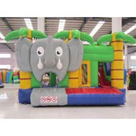 Hüpfburg mit Rutsche Elefant kaufen