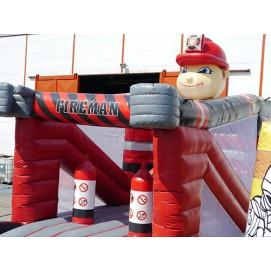Hüpfburg Feuerwehrmann 6m x 4m