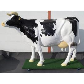 Kuh Wettmelken - lebensgroß
