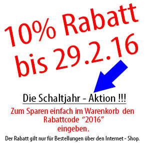 Rabattaktion 2016 - 10 %