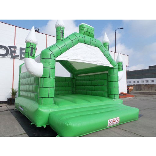 Hüpfburg Camelot grün weiß kaufen