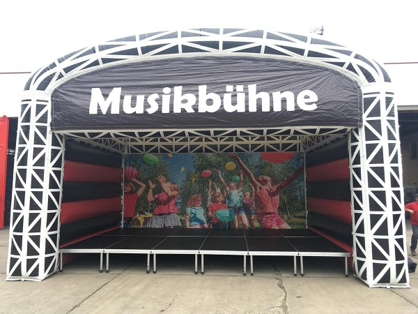 Bühnendach luftgeblasen für 6m x 4m (aB)