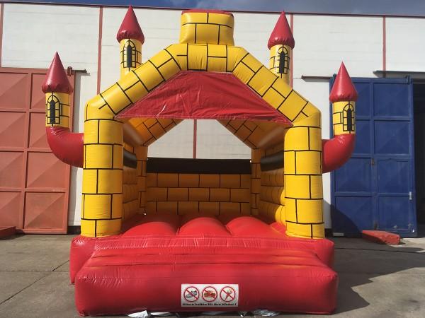 Hüpfburg kaufen Camelot rot-gelb 5m x 6m