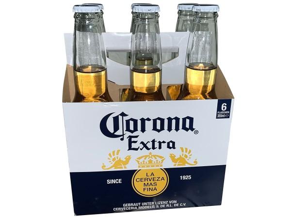 1 Kiste Corona mit 4 Six Pack