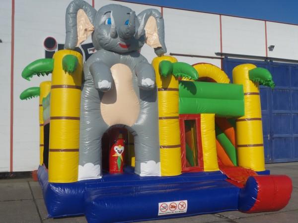 Hüpfburg + Rutsche Big Elefant