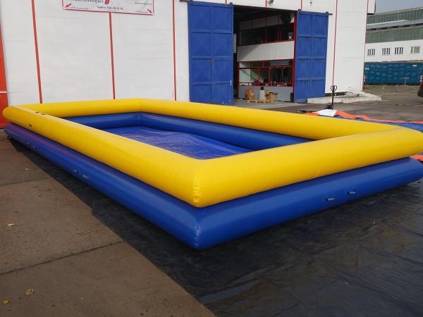 Wasser Pool blau-gelb 5m x 10m