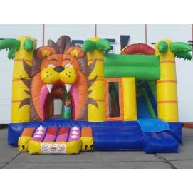 Hüpfburg + Rutsche Lion 5m x 5m