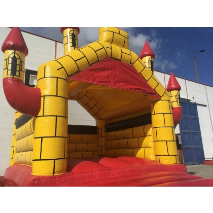 Hüpfburg Camelot rot gelb