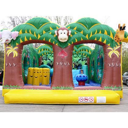 Hüpfburg und Spiel mit Rutsche Dschungelhaus kaufen