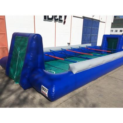 Human Table Soccer  blau/grau