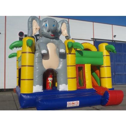Hüpfburg + Rutsche Big Elefant 5m x 5m