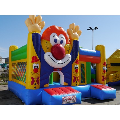Hüpfburg Rutsche Clown