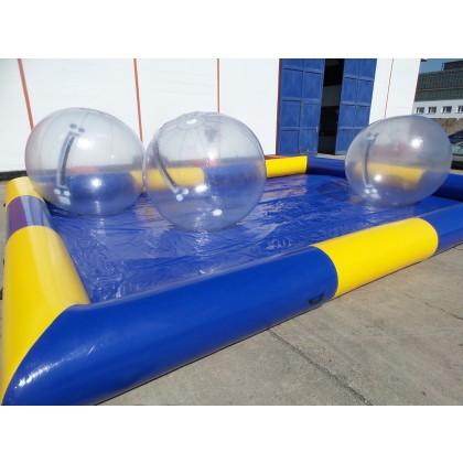 Wasser Pool blau-gelb 8m x 6m