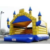Hüpfburg kaufen - Camelot 5m x 6m blau/gelb