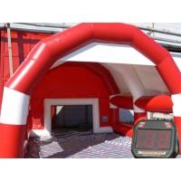 Fussballtor mit Dach rot kaufen